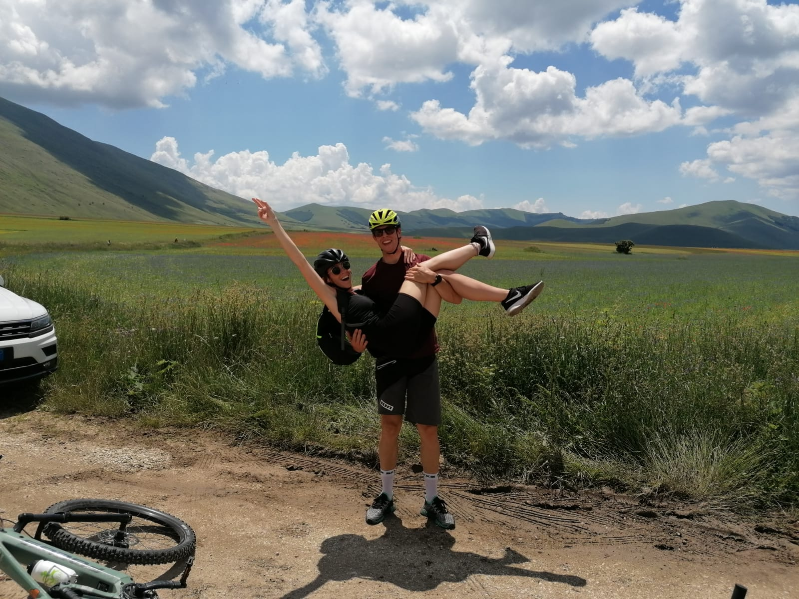 Escursione in E-Bike a Castelluccio 12 luglio 2020